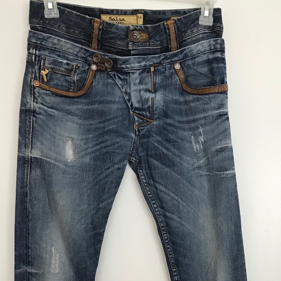 de7df9363b3ec Salsa 1st Level Jeans | Mens Blue 28 X 34 Distressed | Poshmark